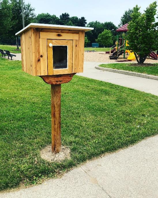 Little Bookhouses at Helder and Quincy Parks